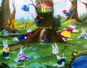 A Busy Day on Cherry Lane - A Children's Book by Karen Wu